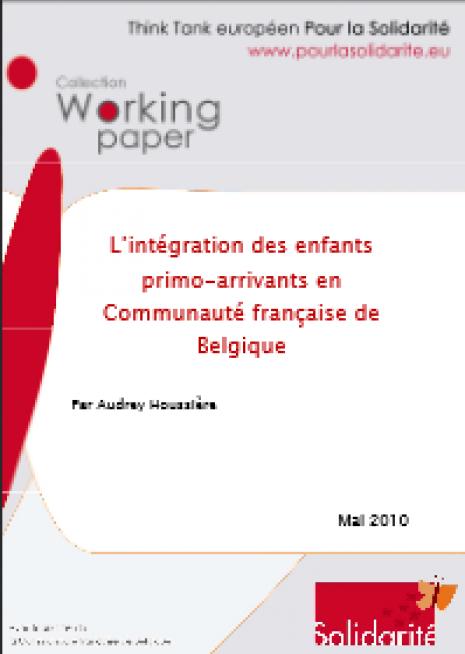 Image couverture L'intégration des enfants primo -arrivants en Communauté française de Belgique