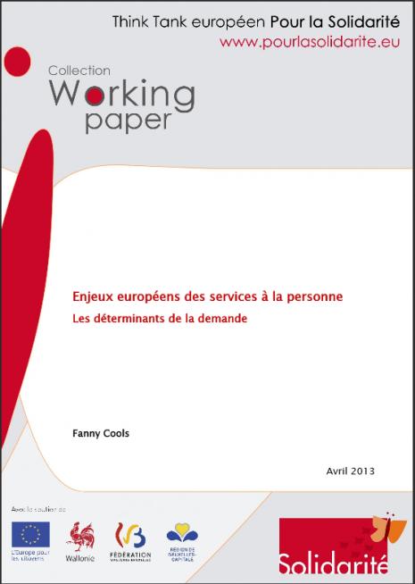 image couverture 1 Enjeux européens des services à la personne Les déterminants de la demande
