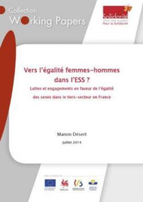 Vers l'égalité femmes-hommes dans l'ESS ? - cover