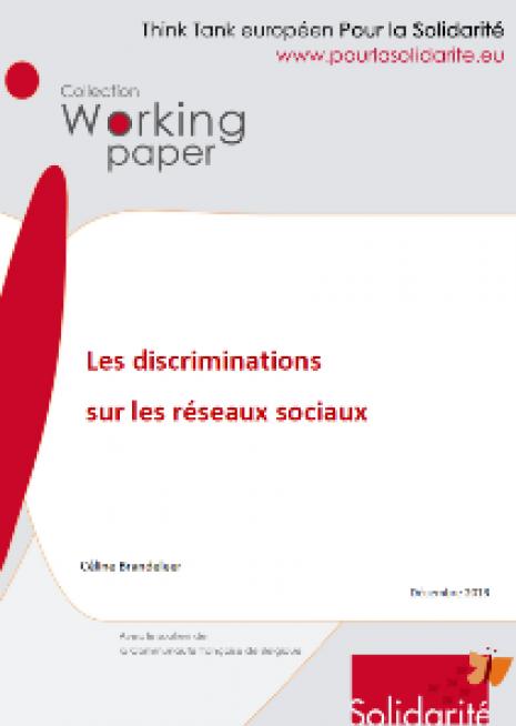 Working paper : Les discriminations sur les réseaux sociaux - cover